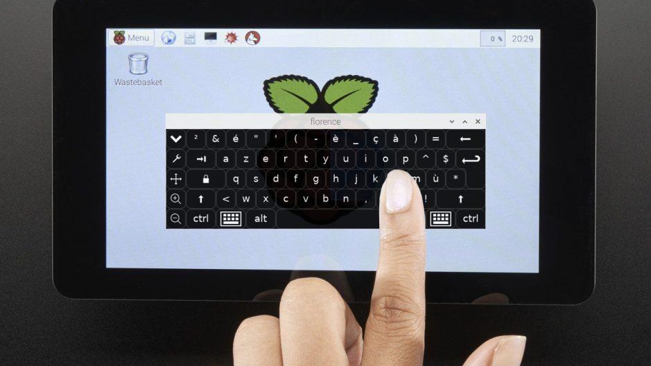 Clavier virtuel sur une Raspberry Pi tactile.